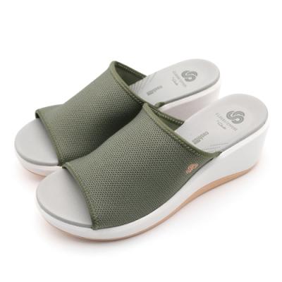 CLOUDSTEPPERS Step Cali Bay 女拖鞋 灰橄欖綠