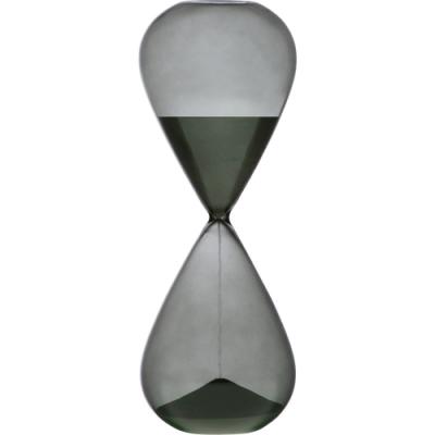 《VERSA》30分鐘圓弧玻璃沙漏(墨黑)