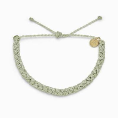 Pura Vida 美國手工 MINT 薄荷綠 粗線編織可調式衝浪手環