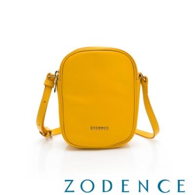 ZODENCE RELAX系列進口彩色牛皮直式皮夾包 黃