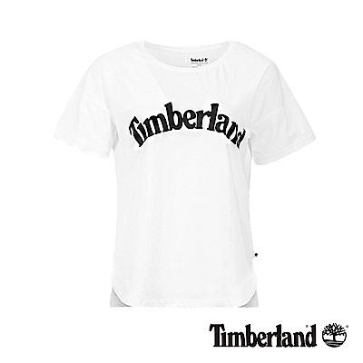 Timberland 女款白色品牌LOGO素面休閒短袖T恤|B3513