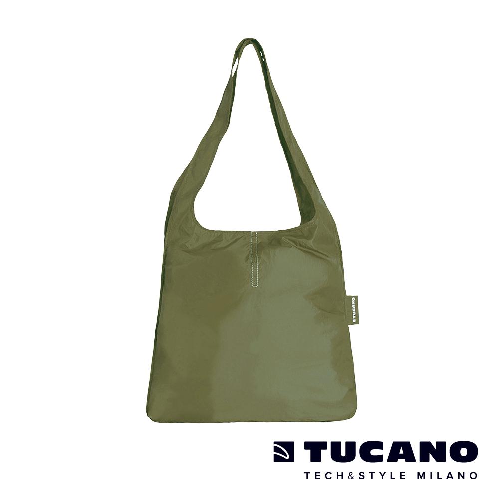 TUCANO COMPATTO 超輕量折疊收納簡便購物袋-軍綠