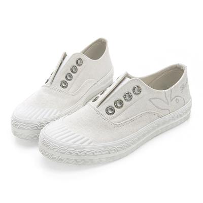 PLAYBOY韓系柔美 亮粉潮流時尚餅乾鞋-白
