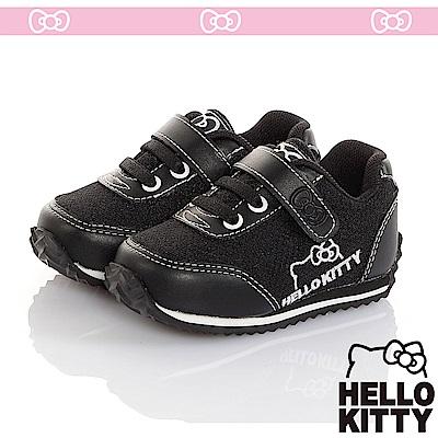 HelloKitty 極簡風透氣輕量減壓休閒慢跑童鞋-黑