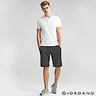 GIORDANO 男裝棉質素色抽繩腰頭針織短褲-72 雪花深灰