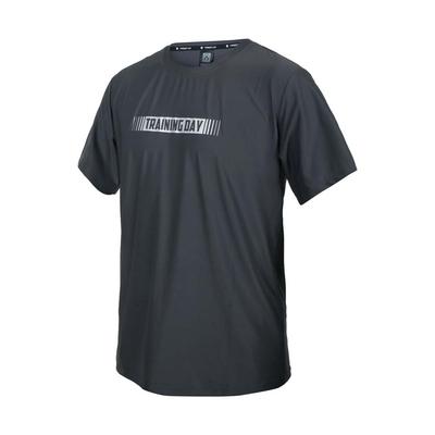 FIRESTAR 男彈性印花圓領短袖T恤-慢跑 路跑 涼感 上衣 反光 D1737-15 灰銀