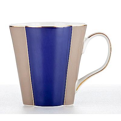 Royal Duke 花瓣骨瓷馬克杯/咖啡杯-藍(特殊花朵造型 230 ml)