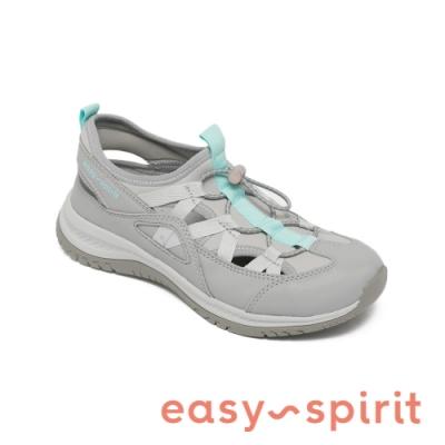 Easy Spirit-seFOREST3 後簍空鬆緊撞色休閒鞋-灰色