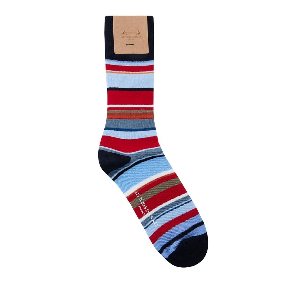 LES TOILES DU SOLEIL法國蘇蕾包-中統襪(25-27cm,女40號) (任選) (畫家)