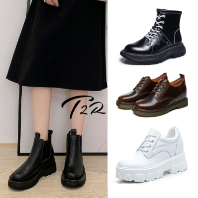 時時樂限定-T2R-正韓空運-真皮隱形增高鞋-增高4-8公分-多款