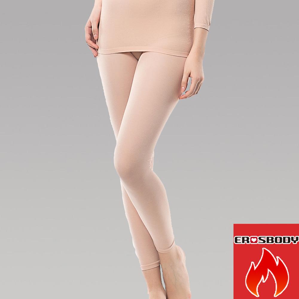 女日本機能纖維針織衛生褲保暖發熱褲 膚色 EROSBODY