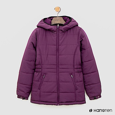 Hang Ten - 女裝 - ThermoContro-縮腰立領連帽外套-紫