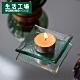 【週年慶全館8折起-生活工場】北歐透淨方型小燭盤8CM product thumbnail 1