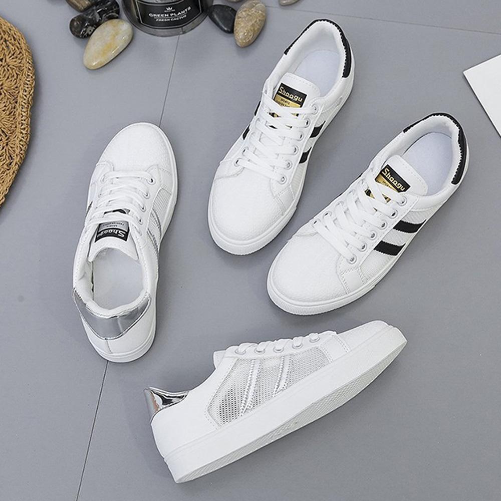 韓國KW美鞋館-獨賣簡約時尚休閒鞋(輕量 運動鞋 休閒鞋)(共2色) (銀色)