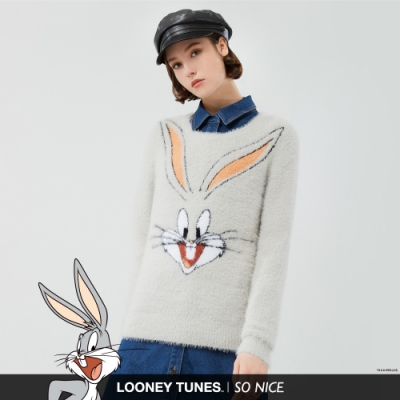 SO NICE俏皮兔巴哥毛絨針織上衣
