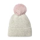 UGG毛線帽 細針織毛球裝飾毛帽