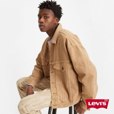Levis 男款 Stay Loose 復古寬鬆版牛仔外套 創新寒麻纖維 鞣色