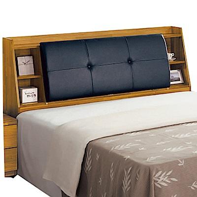 綠活居 波比亞時尚5尺皮革雙人床頭箱-152x30x103cm免組