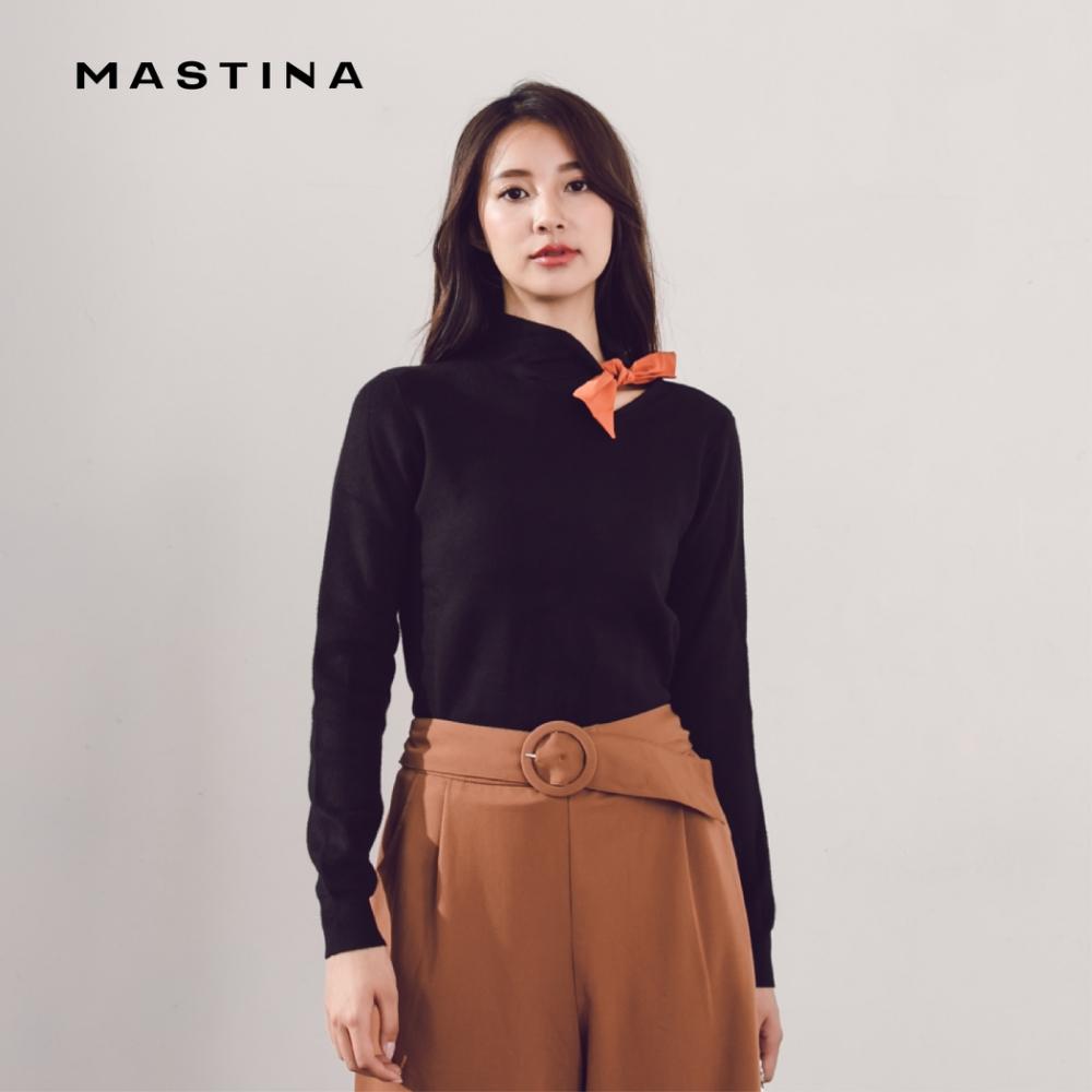 【MASTINA】復古高領綁結-針織衫(三色)