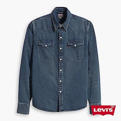 Levis牛仔襯衫男裝V型雙口袋