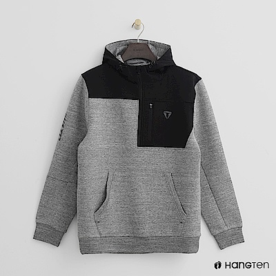 Hang Ten - 男裝 - ThermoContro-拉鍊立領機能型帽T - 灰