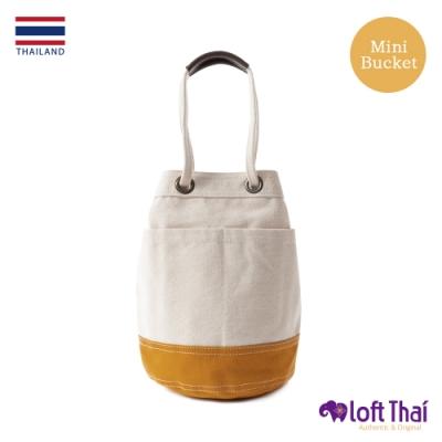 Loft THAI | 泰.兩用帆布水桶包(小) | Nature/mustard