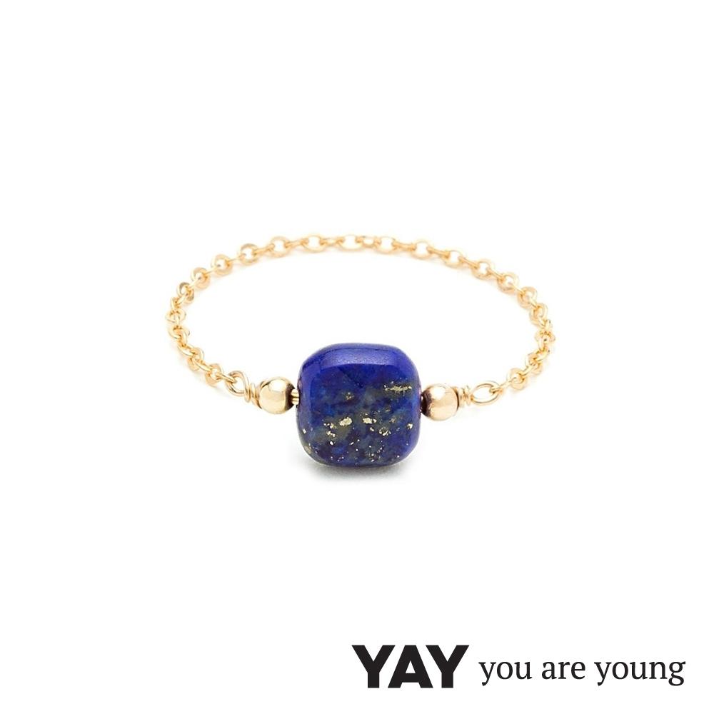 YAY You Are Young 法國品牌 Riviera 青金石鍊戒 金色經典款