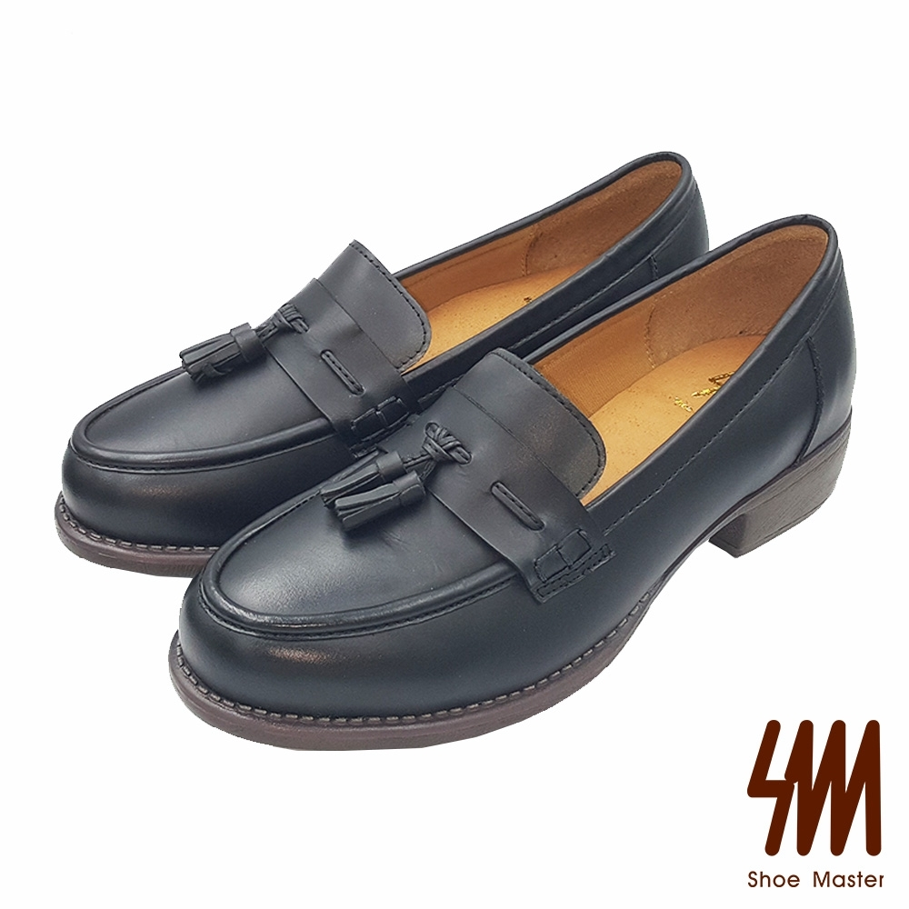 SM-帥氣復古紳士品味全真皮樂福鞋