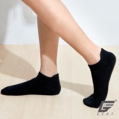 GIAT立體護跟萊卡船形襪(男女可穿/黑色)