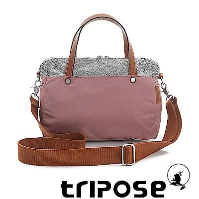 tripose 漫遊系列岩紋玩色兩用手提背包 粉膚