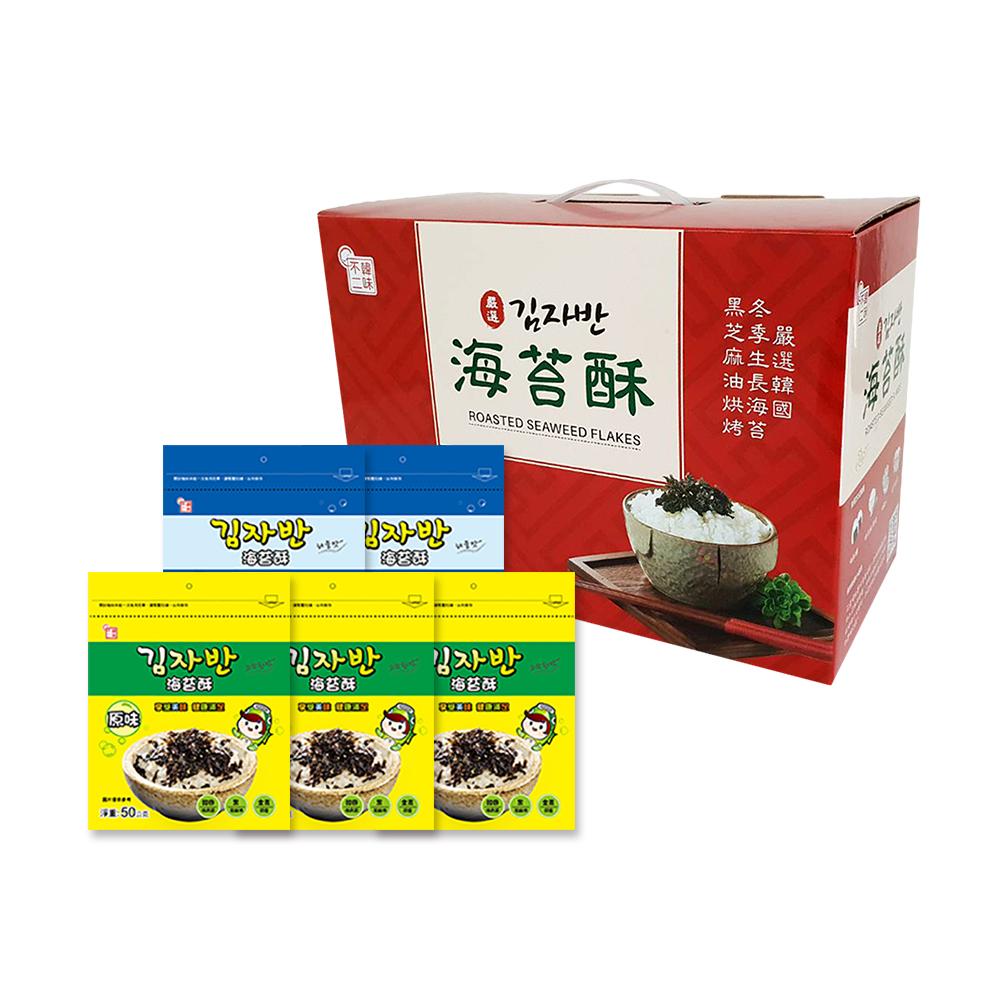 韓味不二 海樂多海苔酥5入裝禮盒