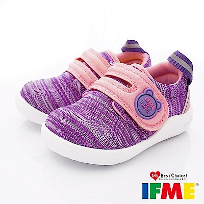 IFME健康機能鞋 針織超輕學步款 EI70501粉紫(寶寶段)