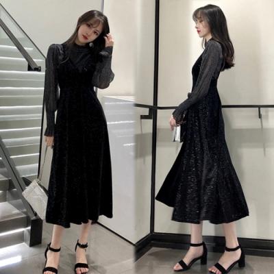 【韓國K.W.】愜意舒適顯腰時尚套裝-1色