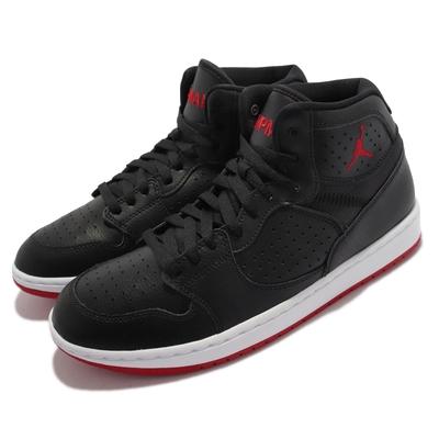 Nike 休閒鞋 Jordan Access 運動 男鞋 海外限定 喬丹 皮革 舒適 球鞋 穿搭 黑 紅 AR3762-001