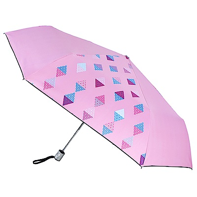 2mm 100%遮光 采漾印花黑膠降溫自動開收傘(幾何)