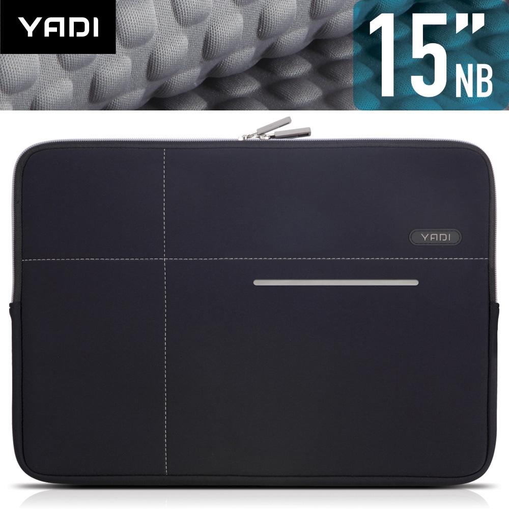 YADI 15吋NB筆記型電腦專用內袋_抗衝擊_防震機能_星夜黑