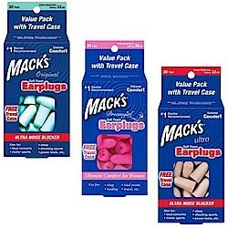 美國 Mack s 泡棉耳塞 30副裝 送收納盒