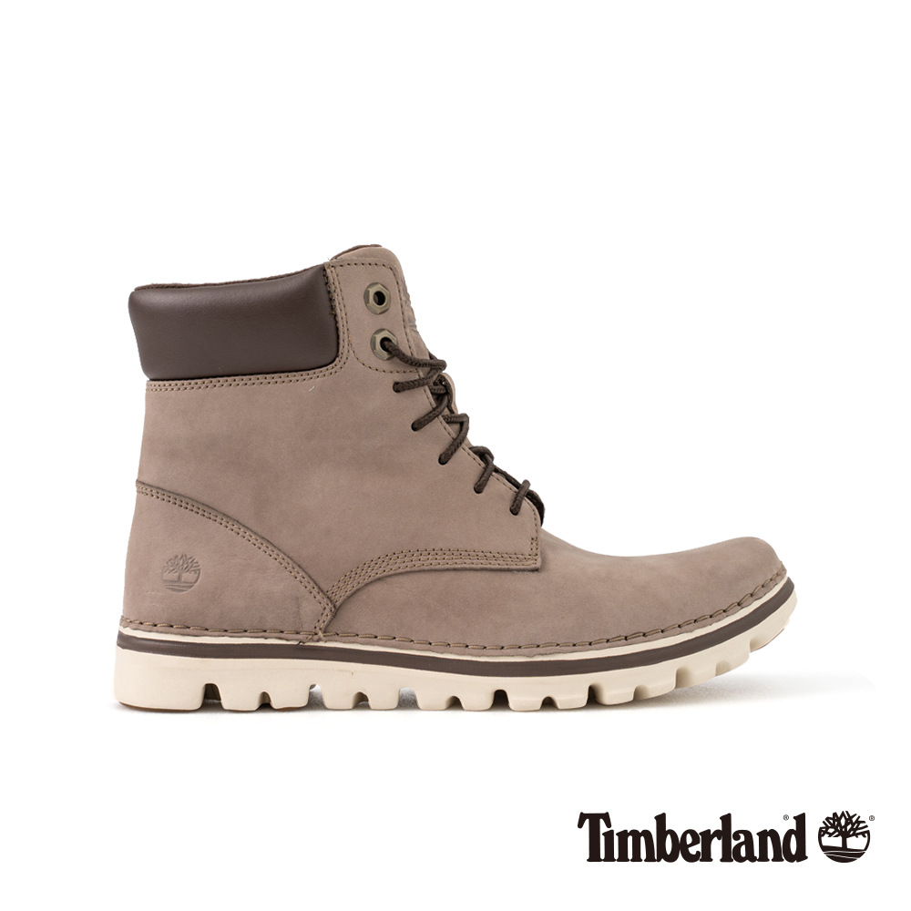 Timberland 女款灰色正絨面皮革Brookton 6吋靴 A1SC6