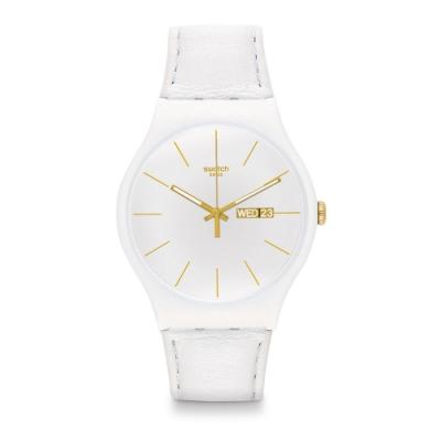 Swatch Rebel Aagin 系列手錶 WHITE CHARACTER 個性白