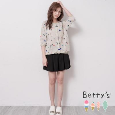 betty's貝蒂思 童趣印花開襟七分袖上衣(淺綠)