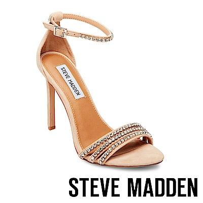STEVE MADDEN-FIERCE-麂皮水鑽高跟涼鞋-米色
