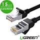 綠聯 CAT6網路線Gigabits(1000Mbps)高速傳輸 圓線 純銅金屬版 (15公尺) product thumbnail 1