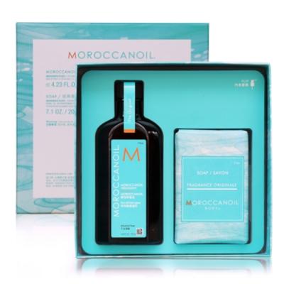 *MOROCCANOIL摩洛哥優油愛皂禮盒(優油125ml+沐浴皂200g)
