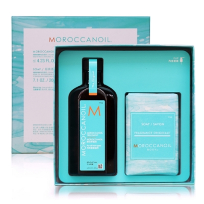 MOROCCANOIL摩洛哥優油愛皂禮盒(優油125ml+沐浴皂200g)-快速到貨