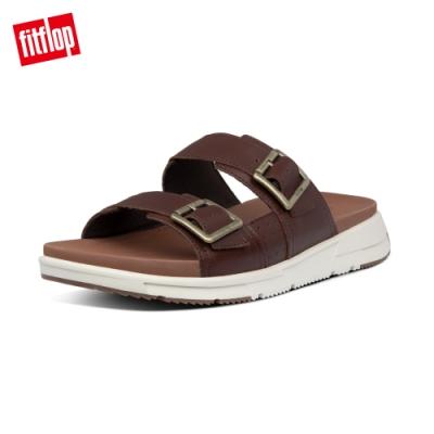 FitFlop ARLO SLIDES 經典扣環可調式涼鞋-男(琥珀棕)
