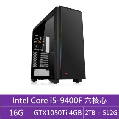 華碩B365平台[戰地武神]i5六核GTX1050Ti獨顯電玩機