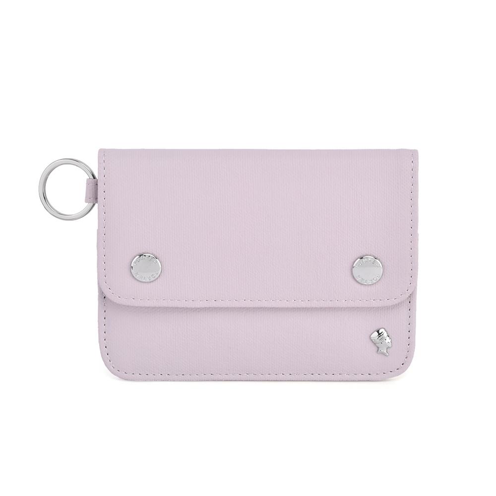 PORTER - 輕甜繽紛SPIRIT橫式卡夾零錢包 - 藕粉紫(銀)