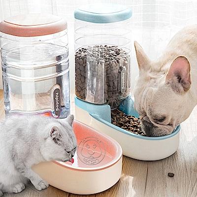 dyy》3.8L大容量寵物自動落下餵食器/餵水器