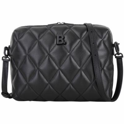 BALENCIAGA Touch B 菱格紋小牛皮斜背包(黑色)