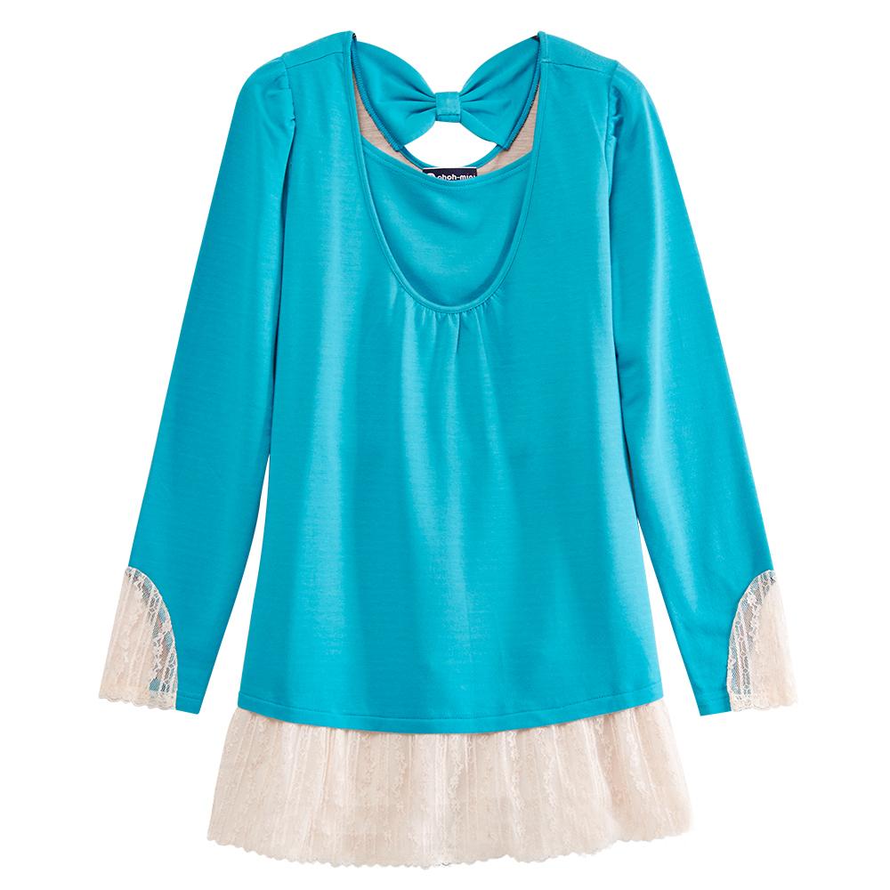 【ohoh-mini 孕婦裝】迷人恬靜蕾絲拼接孕哺上衣